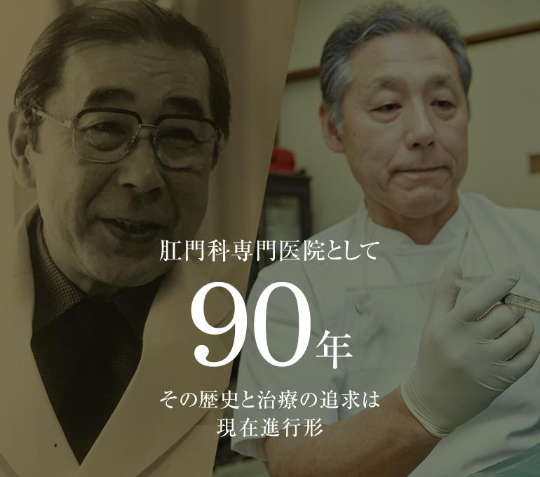 肛門科専門医院として90年